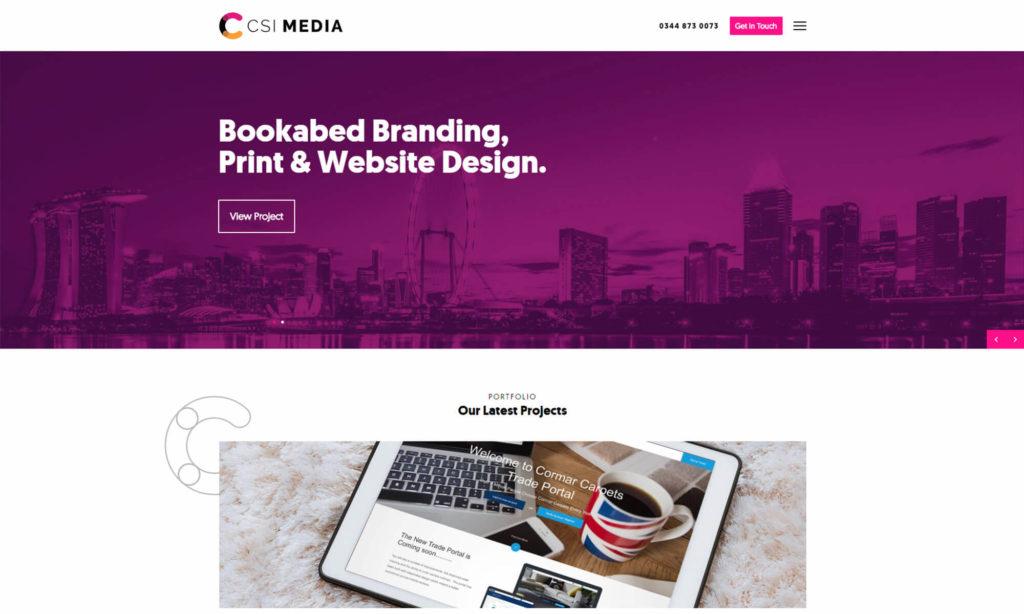 Top UK web design company - CSI Media